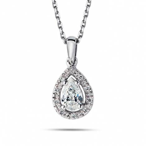 Collier diamant 0.21 ct Or Blanc 1.7g