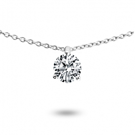 Collier diamant 0.25 ct Or Blanc 1.3g Oriane