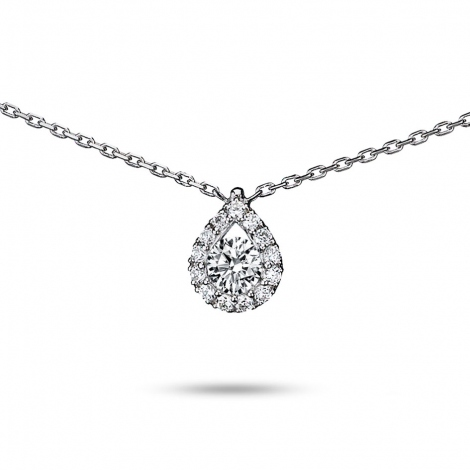 Collier diamant 0.25 ct Or Blanc 2.2g Marianna