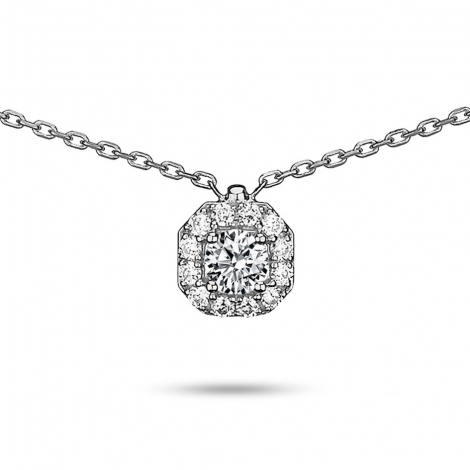 Collier diamant 0.25 ct Or Blanc 2g Diana