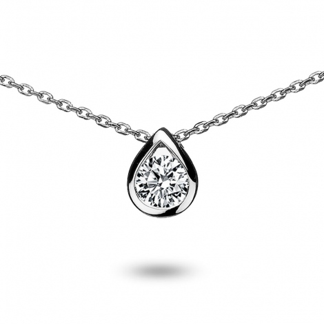 Collier diamant 0.25 ct Or Blanc 2g Kiana