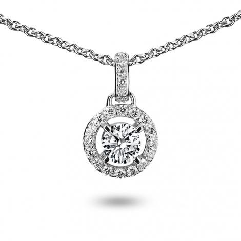 Collier diamant 0.25 ct Or Blanc 4.1g Larisa