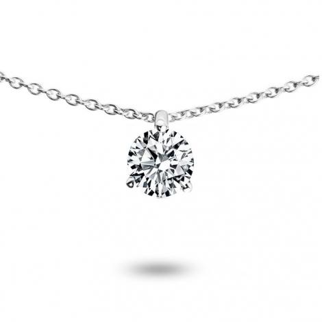 Collier diamant 0.30 ct Or Blanc 1.4g Hideki