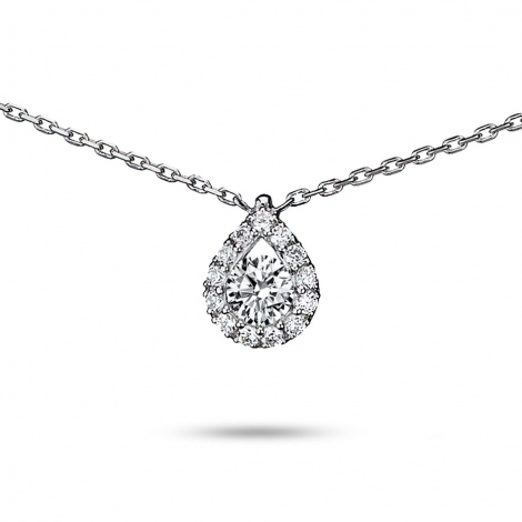 Collier diamant 0.30 ct Or Blanc 2.2g Astrid