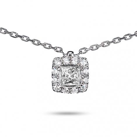 Collier diamant 0.36 ct Or Blanc 2g Espoir
