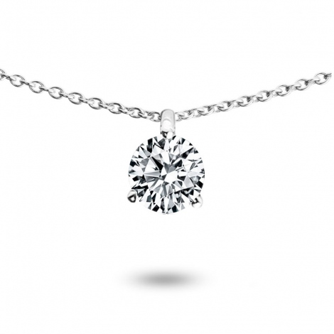 Collier diamant 0.40 ct Or Blanc 1.4g Passion