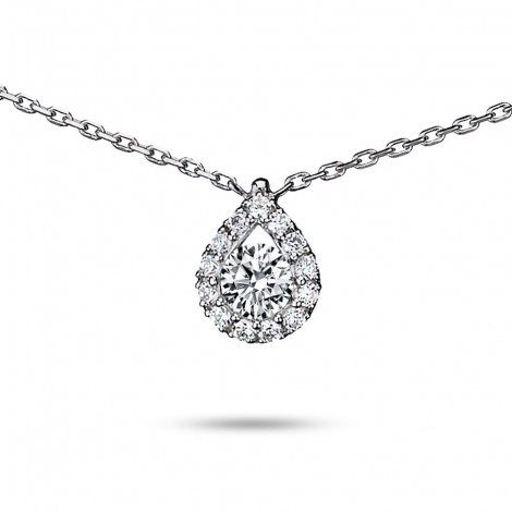 Collier diamant 0.40 ct Or Blanc 2.2g Rosalie