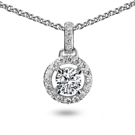 Collier diamant 0.40 ct Or Blanc 4.1g Salome