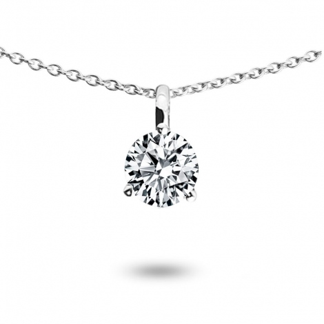 Collier diamant 0.43 ct Or Blanc 1.4g Ambellina