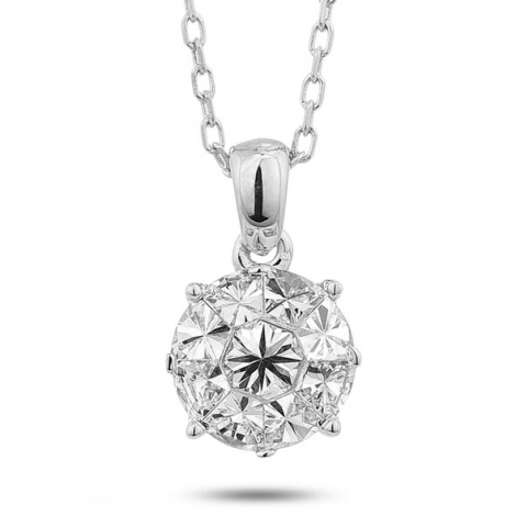 Collier diamant 0.45 ct Or Blanc 2.35g Audrey