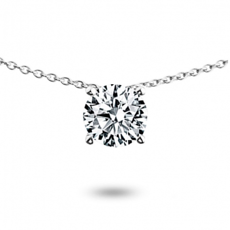 Collier diamant 0.50 ct Or Blanc 3g Alya