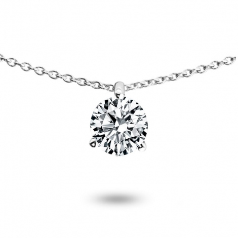 Collier diamant 0.52 ct Or Blanc 1.4g Irène