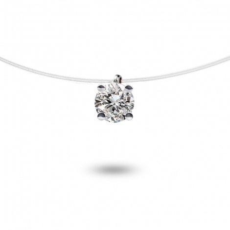 Collier diamant Nylon 0.10 ct 0.35g Daphnée