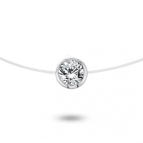 Collier diamant Nylon 0.20 ct serti clos 0.51g Loana