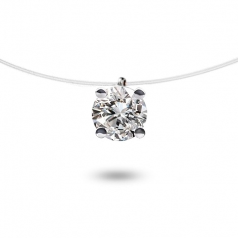 Collier diamant Nylon 0.25 ct  0.41g Delphes