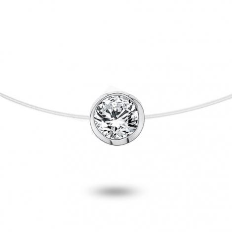 Collier diamant Nylon 0.25 ct serti clos 0.53g Adrienne