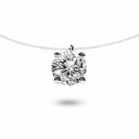 Collier diamant Nylon 0.30 ct  0.41g Ilona
