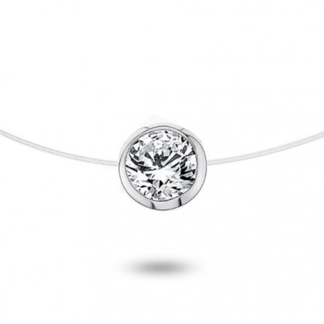 Collier diamant Nylon 0.40ct serti clos 0.6g Elena