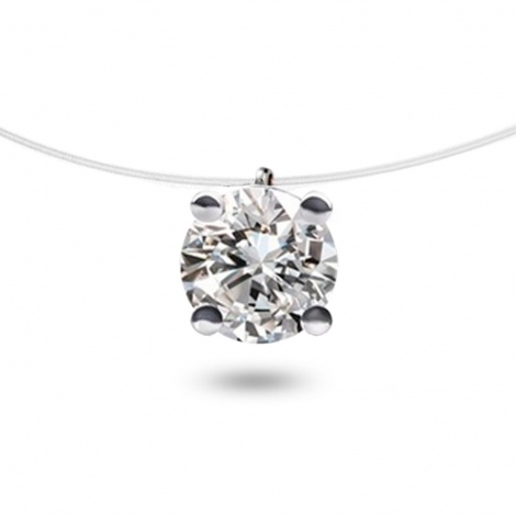 Collier diamant Nylon 0.50 ct  0.5g Myra