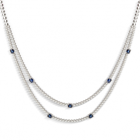 Collier diamant tendance Or Blanc 0.97 ct Isabella - HSN2000