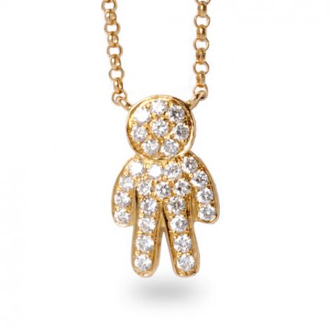 Collier diamant tendance Or Jaune 0.2 ct Katya - FR28-P5498Y