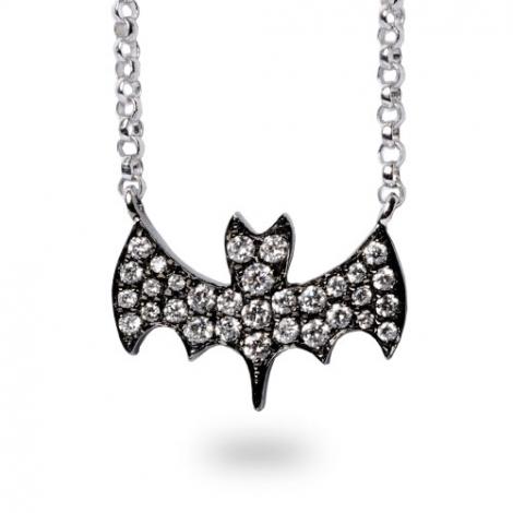 Collier diamant tendance Or Noir 0.17 ct Athéna - FR28-P5920**