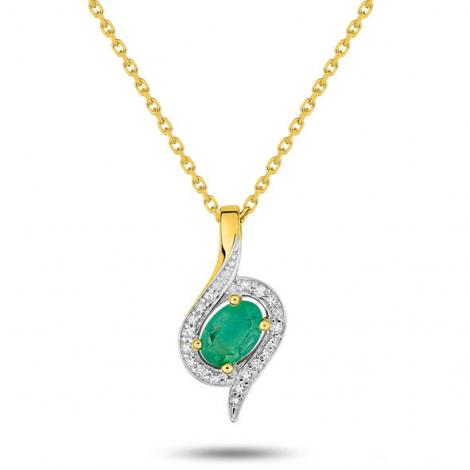 Collier Emeraude et diamants diamant Barbara - MZ528BEB4