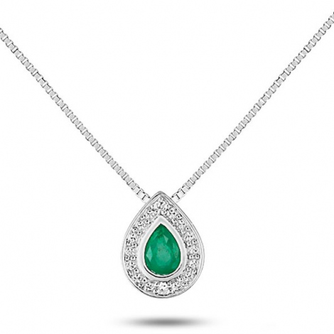 Collier Emeraude et diamant diamant Lana - MN501GEB4