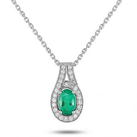 Collier Emeraude et diamants diamant Lorena - MY502GEB4