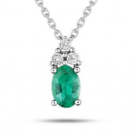 Collier Emeraude et diamants diamant Louna - MZ517GEB4