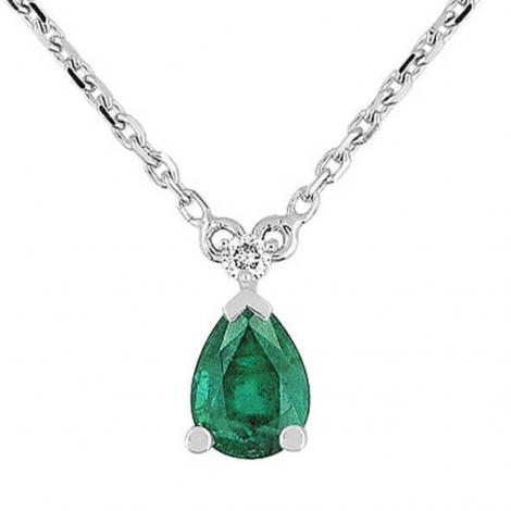 Collier Emeraude et diamants diamant Mary - 7VG561GEB