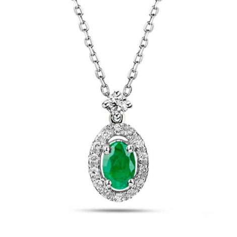 Collier Emeraude diamant  - P4292FMPWACY0