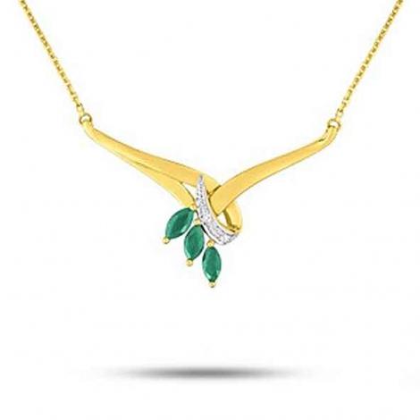 Collier Emeraude et diamants diamant Tahiti - MN503BEB4