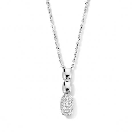 Collier en argent + pendentif serti de zirconium Naiomy Silver Silver - Femme - Dalia - N1D55