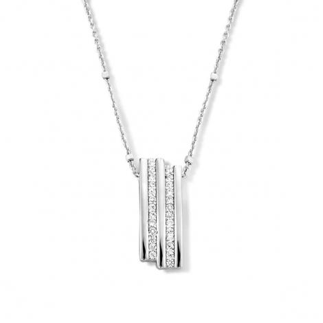Collier en argent + pendentif serti de zirconium Naiomy Silver Silver - Femme - Estelle - N1B56