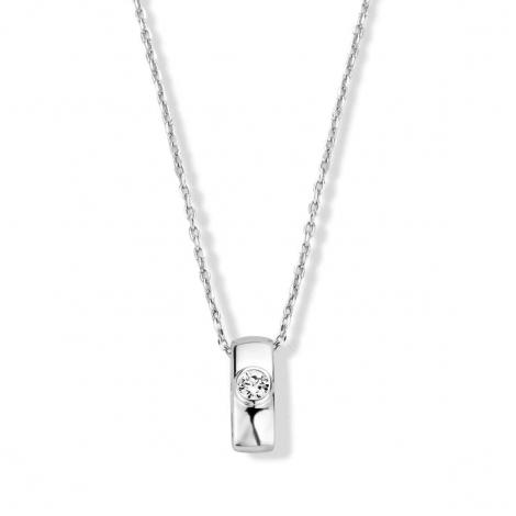 Collier en argent + pendentif serti de zirconium Naiomy Silver Silver - Femme - Océanie - N1E52