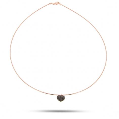 Collier Pesavento DNA Spring Coeur Bronze - Poerava - WDNAG074