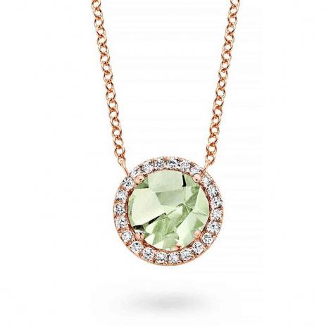 Collier Prasiolite diamant 0.09 ct One More Etna 050510YA