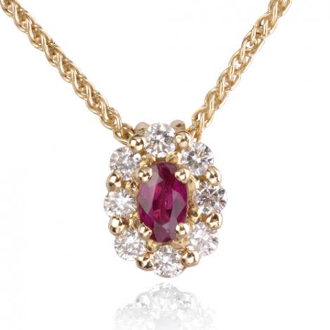 Collier rubis 0.23 ct serti de diamants 0.32 ct diamant Héloïse - CL3829-RU0.23