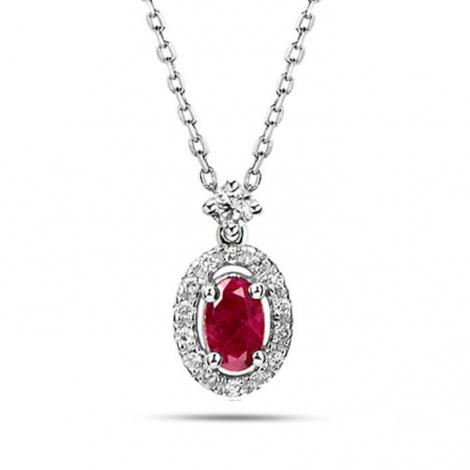 Collier Rubis diamant  - P4291FMPWACYL