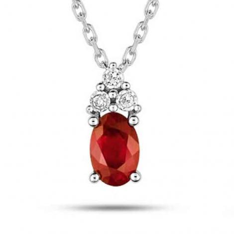 Collier Rubis et diamants diamant Azélie - MZ517GRB4