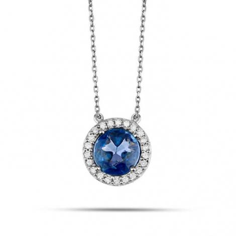 Collier Saphir et diamants 0.75ct - -P3175FMPWACYL