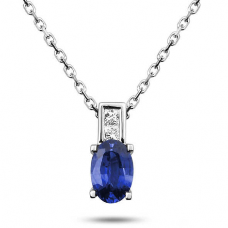 Collier Saphir et diamants 0.7ct - Maelle-7503GSCB2