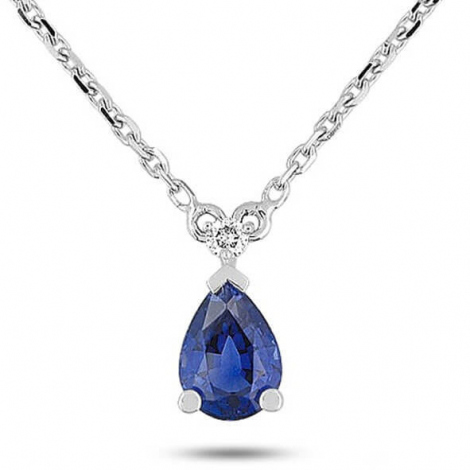 Collier Saphir et diamants 0.8ct - Oriane-7VG561GSB
