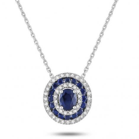Collier Saphir et diamants 0.91ct - Yelena-MX574GSB4