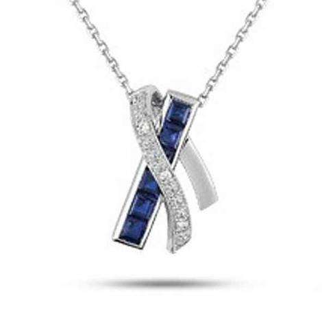 Collier Saphir et diamants ct - Alys-MY509GSB4