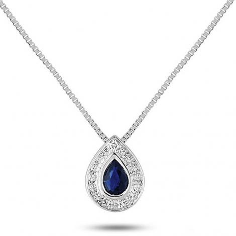 Collier Saphir et diamants ct - Gaëlina-MN501GSB4