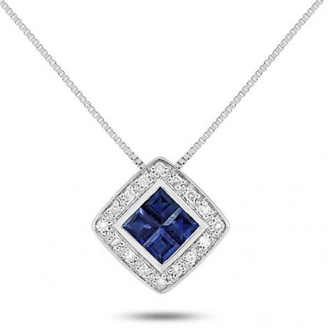 Collier Saphir et diamants ct - kelly-MS564GSB4