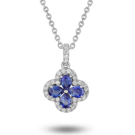 Collier Saphir et diamants ct - Krystina-3.6009.S1