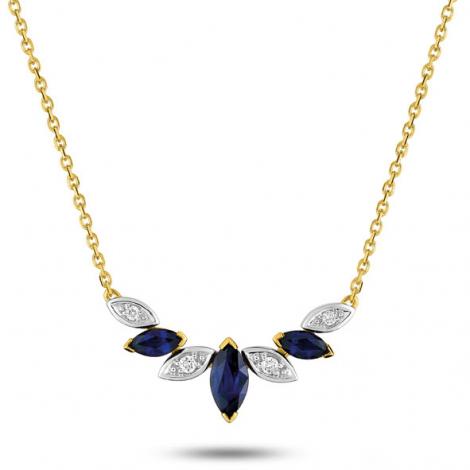 Collier Saphir et diamants ct - Marilyne-MB510BSB4